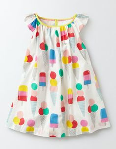 Printed Flutter Sleeve Dress Boden