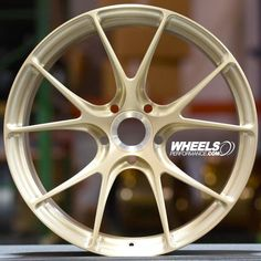 "Beautiful 21"" Champion RS74 centerlock wheel finished in ""Brushed Patina Gold"" made by the Vossen factory right here in Miami Florida. These wheels are exclusive for Porsche cars. Looking for a quote? Reach us at 1.888.239.4335 or @WheelsPerformance @Vossen @ChampionMotorsport"