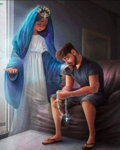 Blessed Mother Mary, Blessed Virgin Mary, Gods Princess, Religion, Christian Friends, Good Sentences, Bride Of Christ, Holy Mary, Cute Baby Pictures