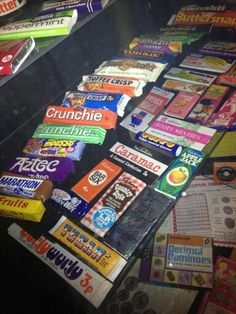 1970's chocolate bars like 'Marathon', 'Country Style' and 'Texan'.... memories!