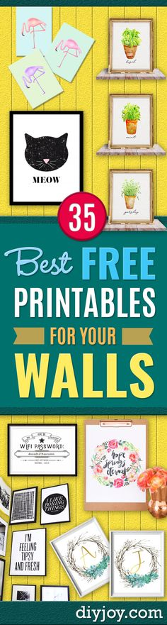 Need some new wall art for those blank walls? Perhaps you are not an artist or simply to not have the time to make something super awesome? Think again. Some of the best wall art ideas we have seen lately are actually free printables you can download for instant home and wall decor. Fun, right? Chan