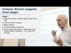 This is a wonderful video on qualitative data coding based on Alan Bryman's methods. (603)