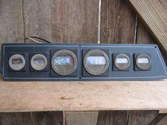 Vintage Boat Marine Instrument Gage Cluster Dash Ratrod Steampunk Industrial #unknown