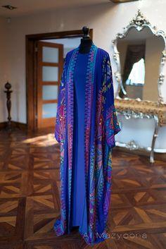 COLLECTION de luxe Al Mazyoona noir brodé fête par Almazyoona