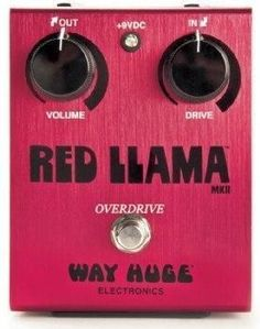 Way Huge Electronics Red Llama Overdrive Guitar Effects Pedal