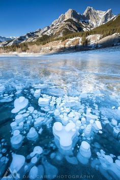 Frozen methane bubbles trapped in the ice. Canon 5D Mark III Canon 16-35 f/4 L IS. Formatt Hitech Filters graduated filter and polarizer.