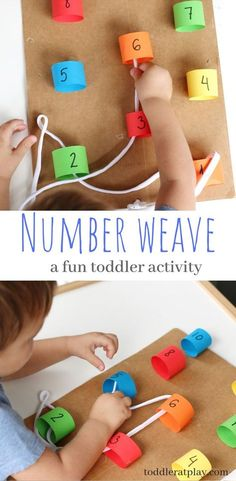 Number Weave Activity - Toddler at Play