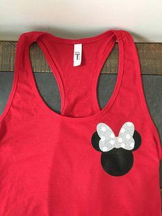 e7a8364d1 Glitter minnie tank womens disney tank disney vacation tank Disney Tank Tops,  Disney Shirts,