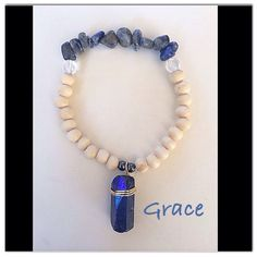Genuine Lapis and Quartz Bracelets - Seven Chakra Jewelry Collection by Expressions of Grace.  Therapeutic Healing Crystals for Energy Balance and Natural Healing. Meditation Bracelets. Yoga Bracelets. Kundalini Meditation. Namaste.  Let the unboxing begin!