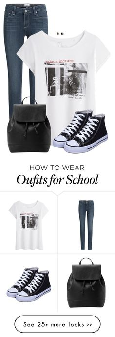 """Back To School Style"" by cnh92 on Polyvore featuring moda, Paige Denim, MANGO e Accessorize"