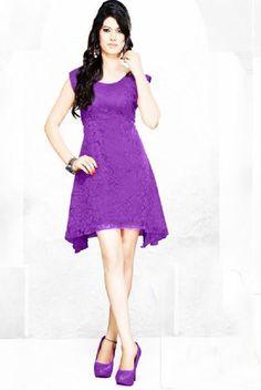 Purple Net/Brasso Dress