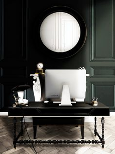 To the January edition of Maison et Objet, Boca do Lobo will be showcasing the best of handmade traditional techniques that bring together contemporary design and Portuguese tradition, one of the representation of it is the Manu Desk, a writing desk inspired by Manuelino style with a top lined with a black lacquered mirror, and the work area is made of leather.http://www.bocadolobo.com/en/coolors-collection/tables-and-desks/manu/index.php/