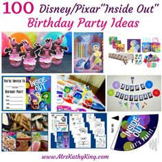 100 Inside Out Birthday Party Ideas
