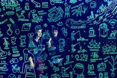 El bar fue intervenido por la ilustradora Olga Capdevila. | Galería de fotos 2 de 11 | AD MX