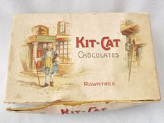 RARE Rowntree Kit Cat Chocolate Box KitKat Vintage Confectionary