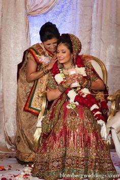 indian wedding reception lengha traditional jai mala http://maharaniweddings.com/gallery/photo/6574