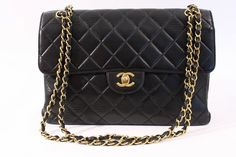 876355cd045519 Vintage Chanel Jumbo Double Sided Flap Bag at Rice and Beans Vintage Chanel  Jumbo, Vintage