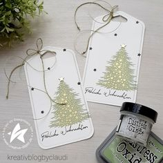 Christmas Gift Tags, Xmas, Last Minute, Creative, Dog Tag Necklace, Stampin Up, Blog, Jewelry, Videos