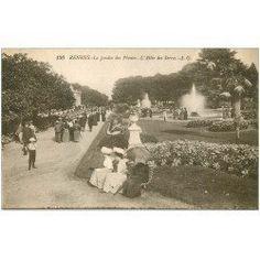 """RENNES - Le Thabor """"Jardin des Plantes"""" - 1924"""