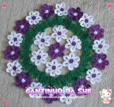 She Corner: Towel daisies . new version . Crochet Mat, Crochet Socks, Crochet Home, Thread Crochet, Cute Crochet, Crochet Doily Patterns, Crochet Doilies, Crochet Flowers, Hand Embroidery Videos