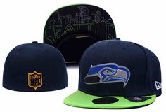 NFL Seattle Seahawks Blue Fitted Hats--lx