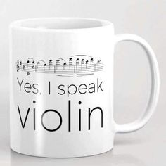 Yes, I speak Violin mug