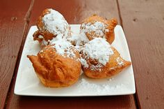 """BEIGNETS Doughnuts have long been linked to Mardi Gras or """"Fat Tuesday."""" In Louisiana, fried dough pillows called beignets are the favorite. Make the dough the night before; then fry in the morning so they're hot and heavenly! Beignets, Mardi Gras, Spaetzle Recipe, Breakfast Recipes, Dessert Recipes, Sans Gluten, Winter Food, Fritters, Pumpkin Recipes"""