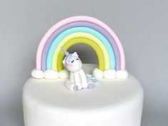 Unicorn and Rainbow Fondant Cake Topper, Fondant Baby Shower Unicorn, Unicorn Birthday Cake Topper Frozen Fondant, Fondant Baby, Fondant Cakes, Chocolate Cake Recipe Easy, Chocolate Peanut Butter, Party Sweets, Unicorn Cake Topper, Salty Cake, New Cake
