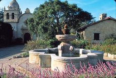 Fountain at a California Mission.