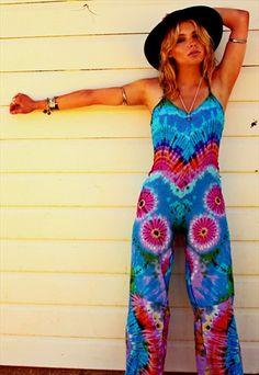 5dba0e14b1ca Purple Haze Tie Dye wide leg festival jumpsuit Festival Jumpsuits