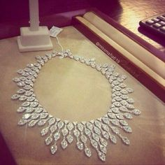 work/… Diamond necklace Fit for a Queen. - Buy Me Diamond Diamond Pendant, Diamond Jewelry, Diamond Necklaces, High Jewelry, Luxury Jewelry, Diamond Are A Girls Best Friend, Beautiful Necklaces, Swarovski, Jewelry Design
