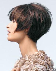 Short brown hair hair-ideas- I like the back Modern Short Hairstyles, Cute Hairstyles For Short Hair, Summer Hairstyles, Bob Hairstyles, Straight Hairstyles, Wedge Hairstyles, Fashion Hairstyles, Hair Styles 2014, Short Hair Styles