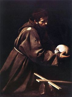caravaggio paintings | St. Francis by Caravaggio, 1606
