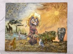"Mixed Media Art work according to the musical "" The Lion King """