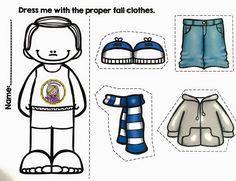 Educación Preescolar: Las ropas de estaciones del año.