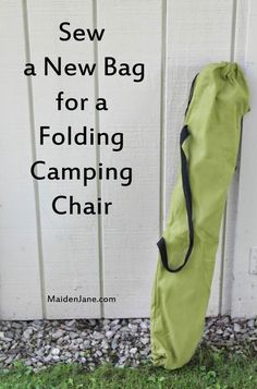 Do you need a new bag for your folding camping chair? Is yours made out of nylon and falling apart at the seams? I'm embarrassed to show you my bags, but here is one. We use our chairs for picnics...