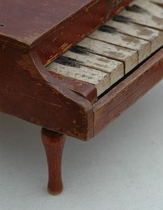 Vintage Wooden Toy Piano