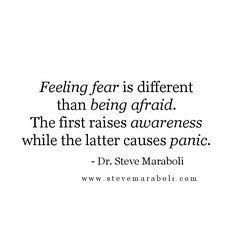 Feeling fear...