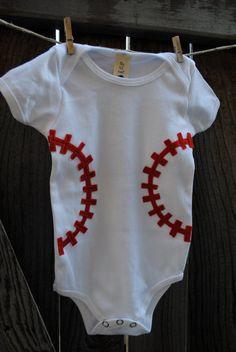 baseball onesie