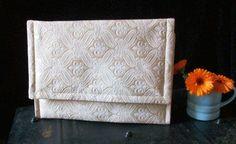 Oversized Ivory Envelope Clutch Purse by RaspberrydazeBespoke, £30.00