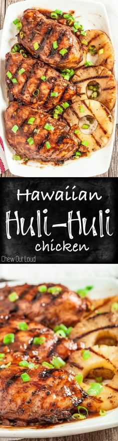 Don't let the season end without trying this Hawaiian Huli Huli Chicken! The sauce is amazing. Healthy, mouthwatering, BIG flavors for your grill. If there's one grilled chicken to try, it's Hawaiian Huli Huli Chicken. Grilling Recipes, Cooking Recipes, Healthy Recipes, Kebab Recipes, Entree Recipes, Easy Recipes, Turkey Recipes, Chicken Recipes, Chicken Flavors