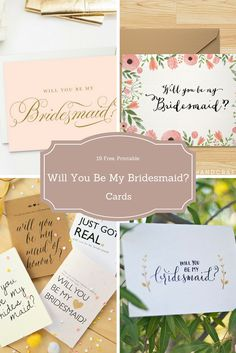 Free Printable Will You Be My Bridesmaid Card Free Printables