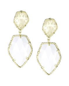 Selma Double-Drop Earrings, White/Golden by Kendra Scott at Neiman Marcus Last Call.