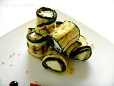 DOLCEmente SALATO: Zucchine grigliate piccanti con cuore di mozzarella