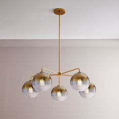 Create lighting with a custom feel with our Sculptural Glass Globe Chandelier. With its ombre-finished globes, it's just the thing to add illuminating intrigue to your hallway, entryway or dining room. Mobile Chandelier, Chandelier Bedroom, 3 Light Chandelier, Globe Chandelier, Pendant Lights, Chandeliers, Metal Canopy, Rooms Home Decor, Room Decor