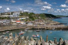 Mevagissey Outer Harbour from the coast path