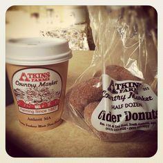 Cider. Apple Cider Donuts. Atkins Farms Market.