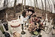 Mad Hatter Tea Party Themed Wedding Pictures! More on this site, these are incredible!!