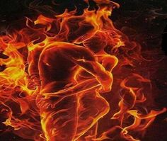 Gif - Dance with me in the Fire of my Soul Gif Kunst, Dark Fantasy, Fantasy Art, Transférer Des Photos, Twin Flame Love, Twin Flames, Flame Art, Twin Souls, Fire And Ice
