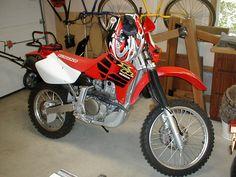 My XR650R Honda dirtbike.